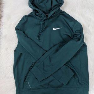Nike Therma-Fit Teal Hoodie Large Sweater